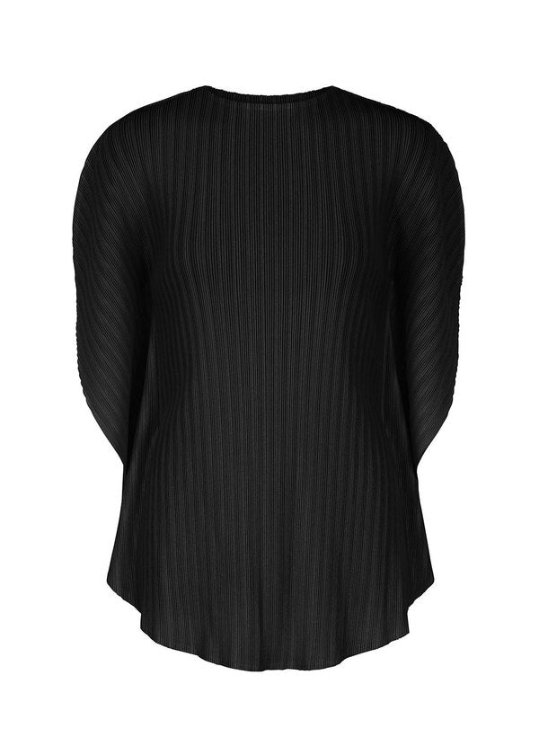RIB PLEATS FEBRUARY Top Black