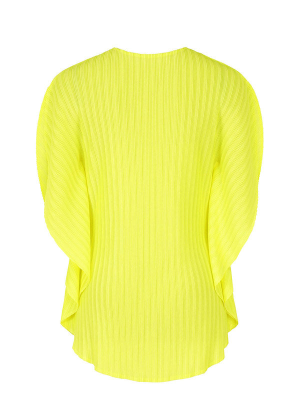 RIB PLEATS FEBRUARY Top Lime Yellow