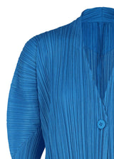 MELLOW PLEATS Coat Blue