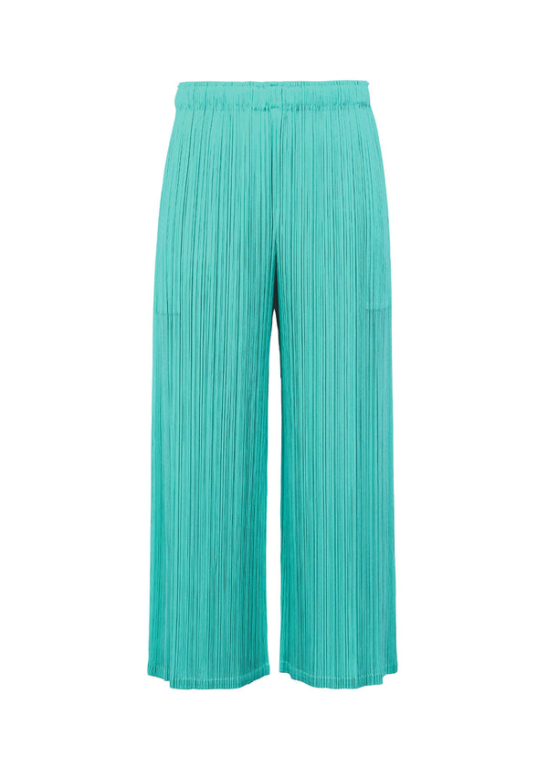 MONTHLY COLORS : MARCH Trousers Turquoise Green