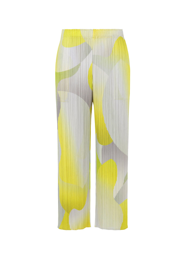 FLOWER YAWN Trousers Yellow