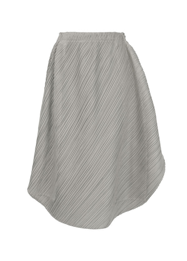 SHINY ROUND Skirt Grey