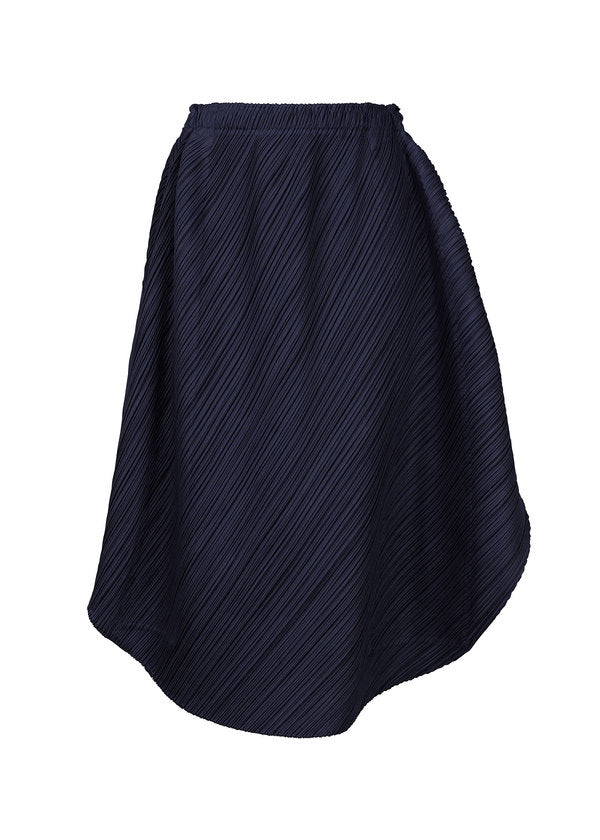 SHINY ROUND Skirt Navy