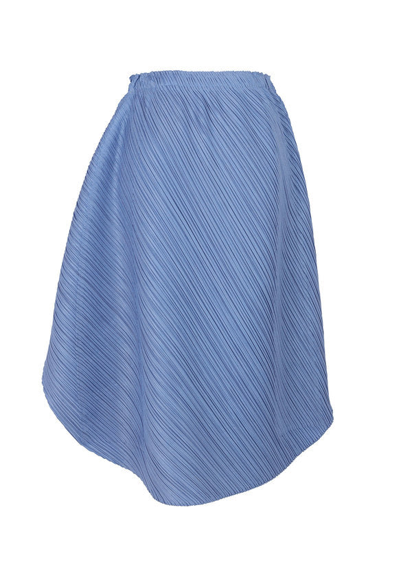 SHINY ROUND Skirt Saxe Blue