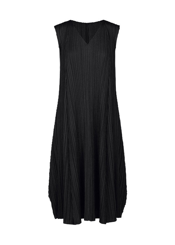 MELLOW PLEATS Dress Black