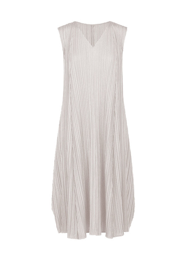 MELLOW PLEATS Dress Light Beige