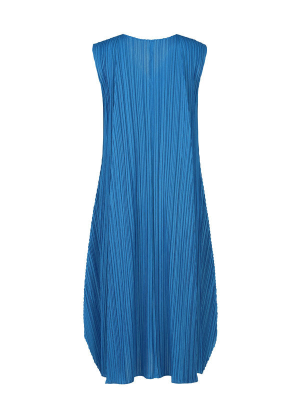 MELLOW PLEATS Dress Blue