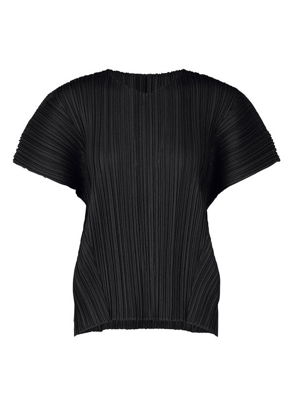 MELLOW PLEATS Top Black