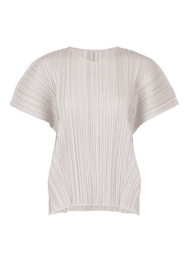 MELLOW PLEATS Top Light Beige