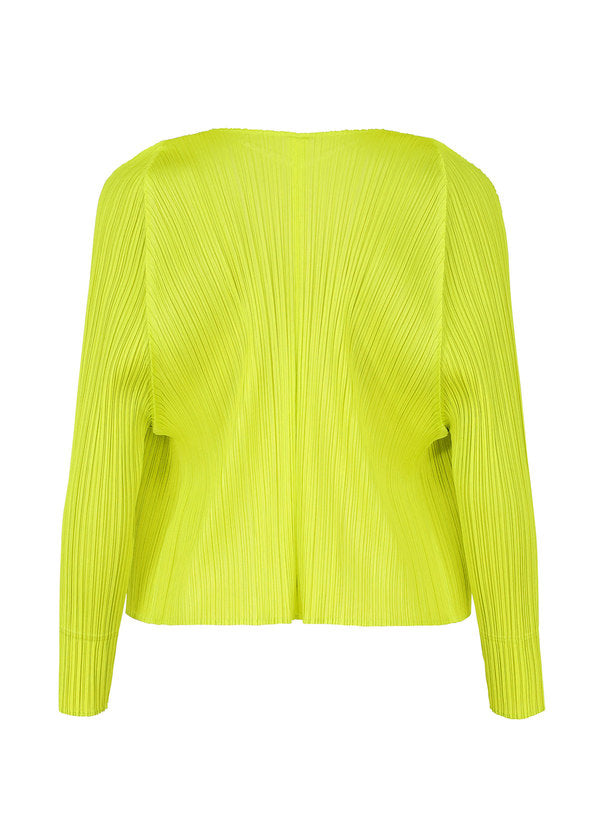 MONTHLY COLORS : FEBRUARY Cardigan Lime Green