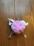 Fluffy Unicorn Bag Charm, Keychain