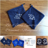 Monogrammed English Stirrup Covers