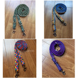 Custom Adjustable Paracord Reins & Matching Wither Strap set - 9 Strand