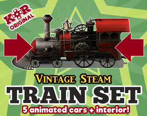 KR Vintage Steam Train Set for RPGs