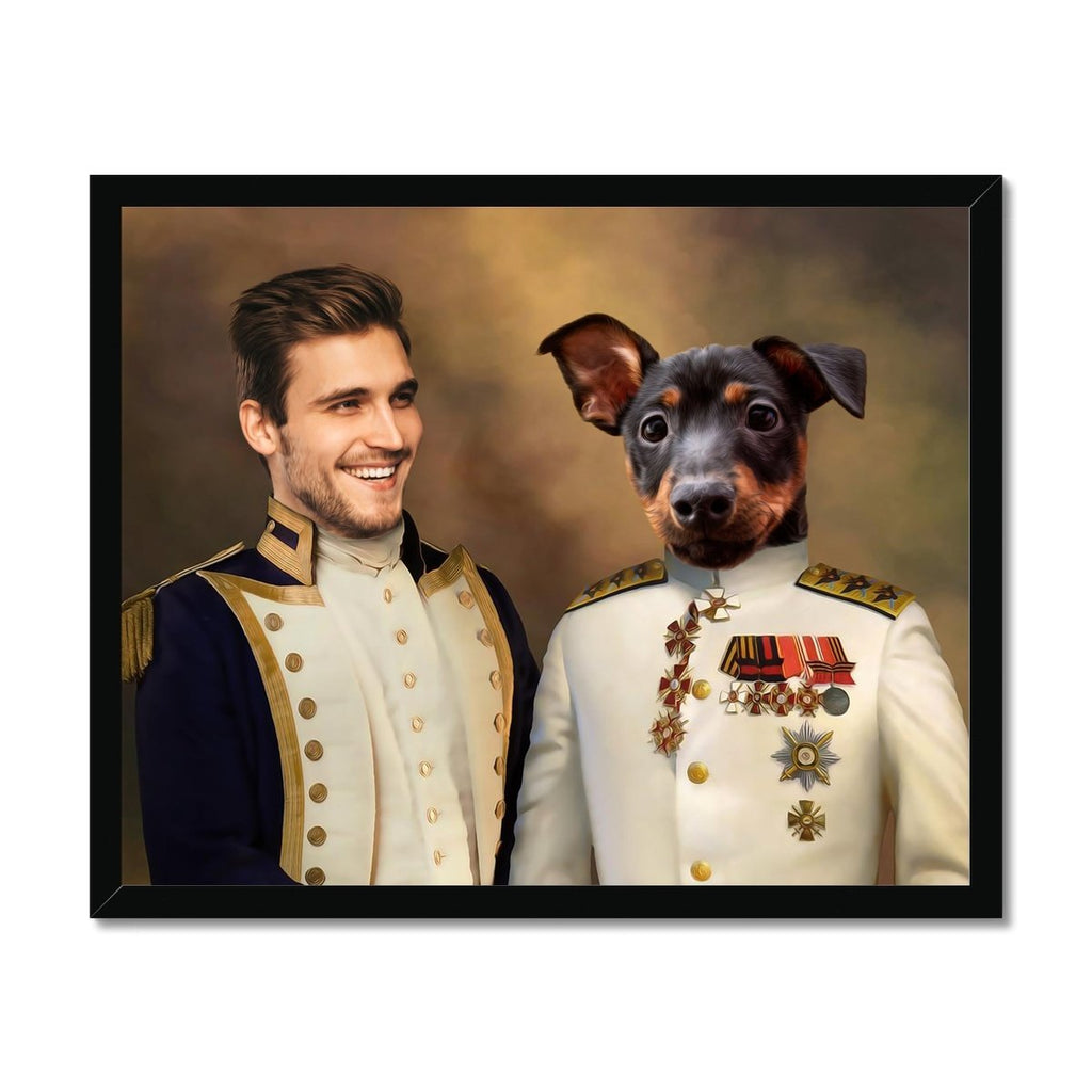 The Admiral & The Sargent: Pet & Owner Framed Portrait - Paw & Glory - #pet portraits# - #dog portraits# - #pet portraits uk#