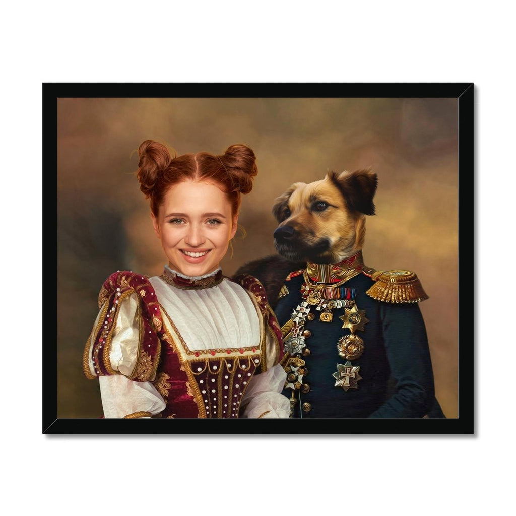 The Classy Pair: Custom Pet & Owner Framed Print - Paw & Glory - Fine art