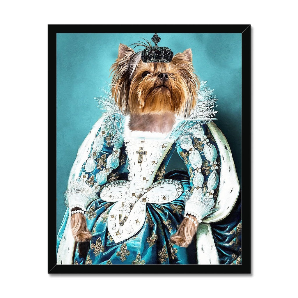 The Queen Regent: Custom Pet Framed Portrait - Paw & Glory - Fine art