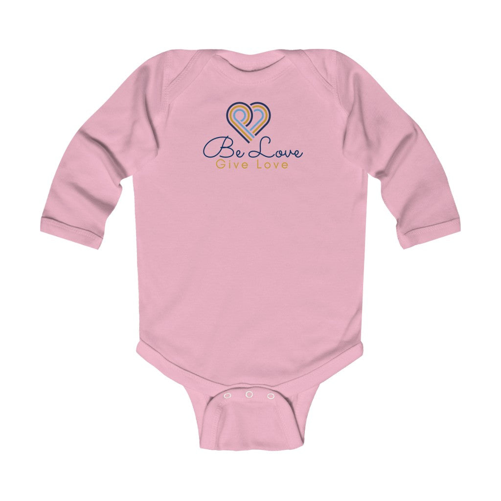 Be Love Give Love Infant Long Sleeve Bodysuit UK