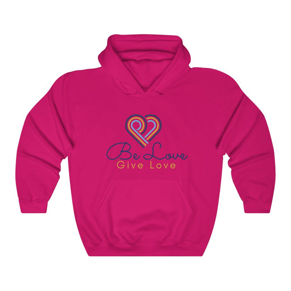 Be Love Give Love Unisex Heavy Blend™ Hooded Sweatshirt