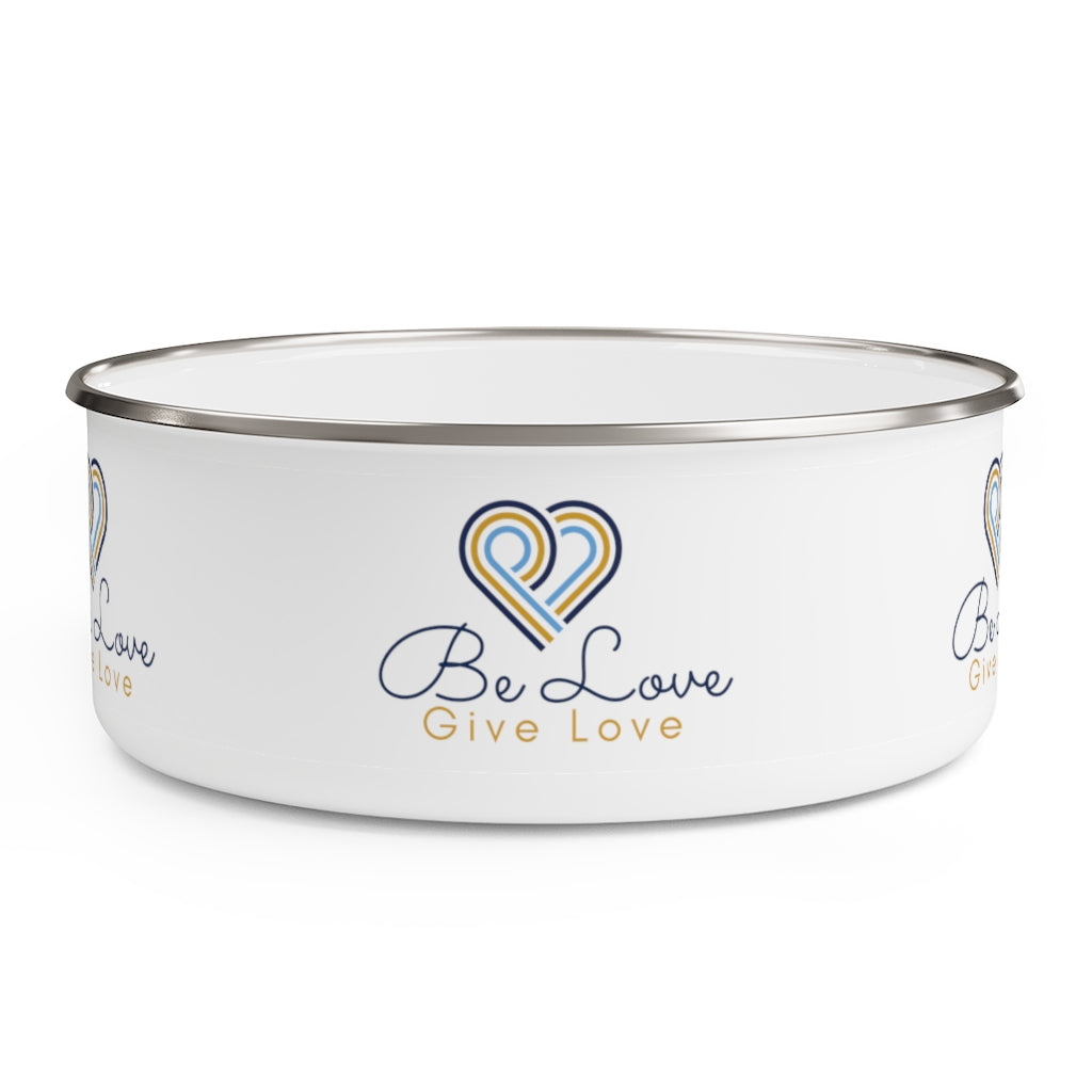 Be Love Give Love Enamel Bowl