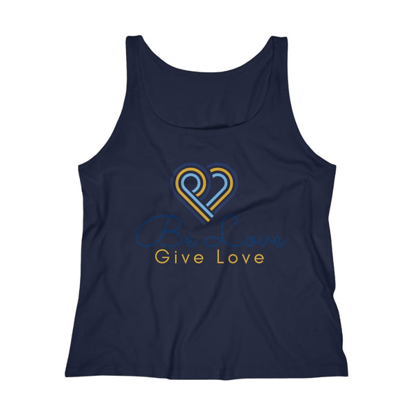 Be Love Give Love Women's Relaxed Jersey Tank Top