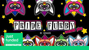 FUNDED - Pride Furby Enamel Pins on Kickstarter!