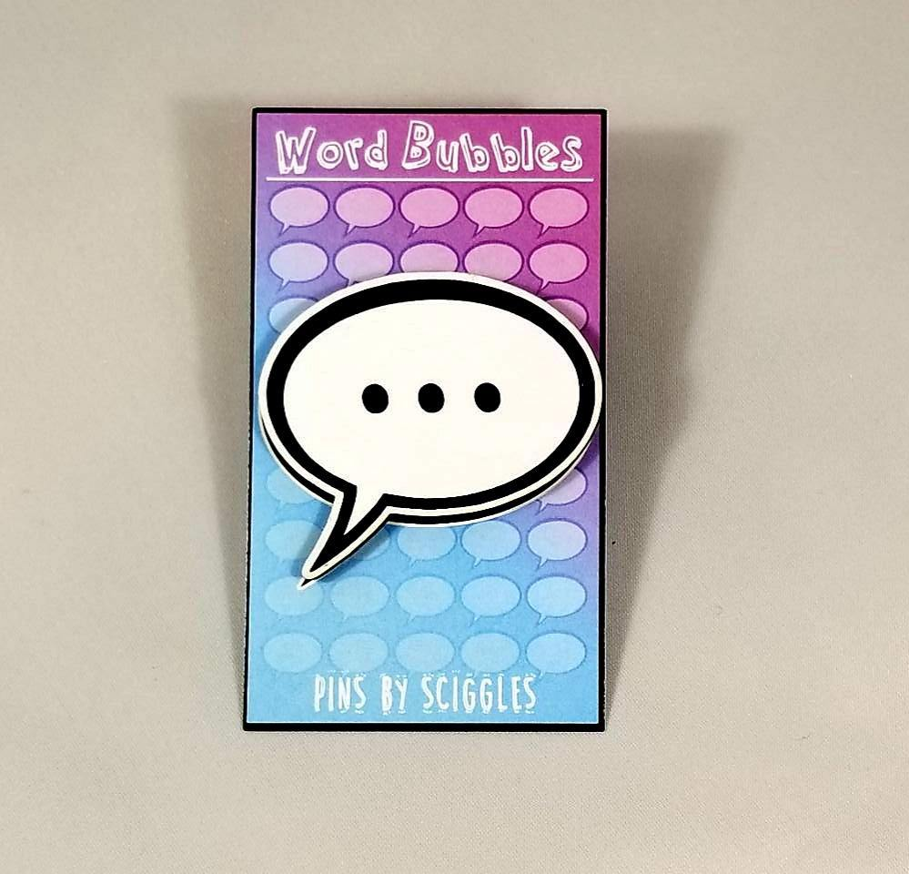Speech Bubble Pins, Pins - Sciggles