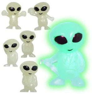 Glow-in-the-Dark Alien Keychains, Keychains, Keychains - Sciggles