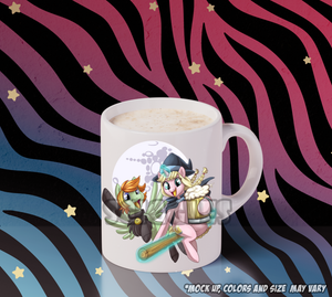 Pony Coffee Mugs - Ponyville Ciderfest, Mugs - Sciggles