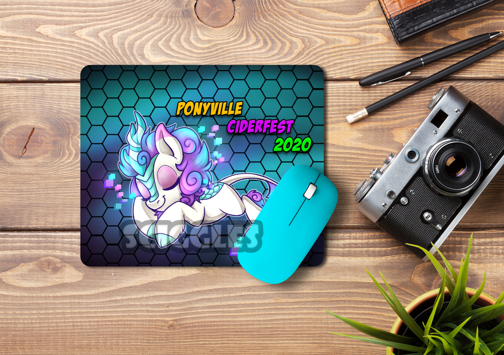 Pony Mousepads - Ponyville Ciderfest Mascots Exclusive, Mousepads, Convention Exclusive, Limited Edition, Mousepad, Pony, Sublimation - Sciggles