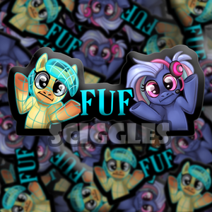 "Pony 3"" Stickers - PonyFest Online, Stickers - Sciggles"