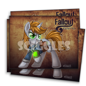 "Pony Prints - 8.5""x11"" - Other, Prints, 8.5x11, Fallout, Pony, Prints - Sciggles"