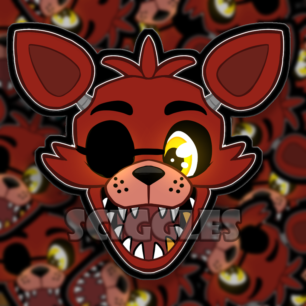 "3"" Vinyl Stickers - FNAF, Stickers - Sciggles"
