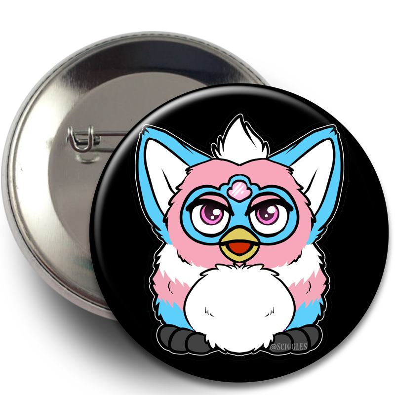 Buttons - Furby, Buttons, Buttons, Customizeable, Furby, LGBT, LGBTQ+, Wearable - Sciggles