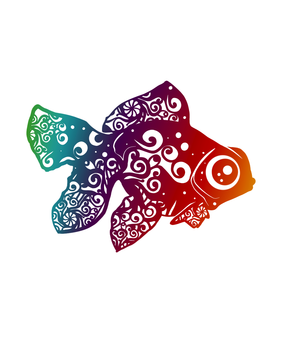 "Goldfish 3"" Stickers, Stickers - Sciggles"