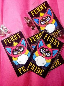 Badges - Furby, Badges, Badges, Customizeable, Furby, LGBTQ+, Wearable - Sciggles