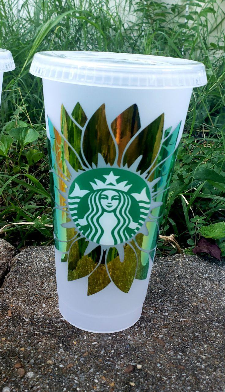 Flower Cold Cup, Cups, Cups, Customizeable, Starbucks - Sciggles