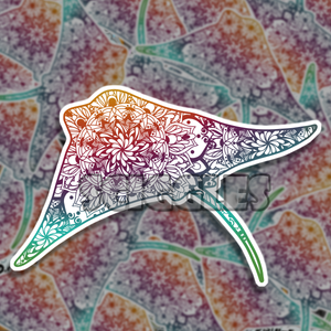 "Mandala Ray 3"" Stickers, Stickers - Sciggles"