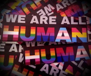 "We Are All Human 3"" Stickers"