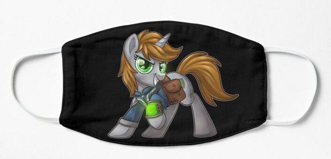 Pony Face Masks - Fallout Equestria, Face Masks, Face Masks, Fallout, Pony, Sublimation, Wearable - Sciggles