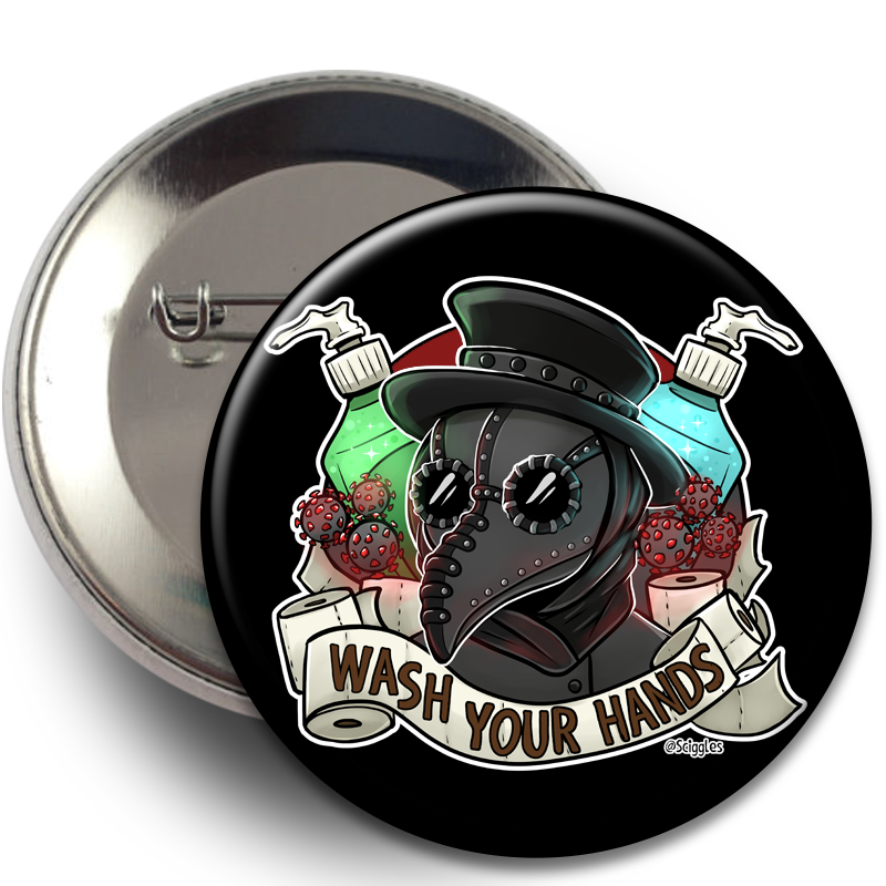Buttons - Plague Doctor, Buttons, Buttons, Customizeable, Plague Doctor, Wearable - Sciggles