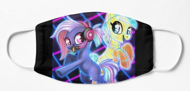Pony Face Masks - PonyFest Online, Face Masks, Convention Exclusive, Face Masks, Limited Edition, Pony, Sublimation, Wearable - Sciggles