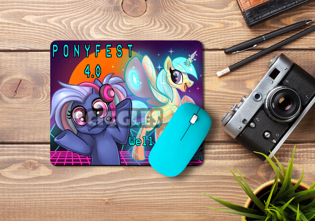 Pony Mousepads - PonyFest Online, Mousepads, Convention Exclusive, Limited Edition, Mousepad, Pony - Sciggles