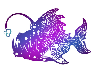 "Anglerfish 3"" Stickers, Stickers - Sciggles"