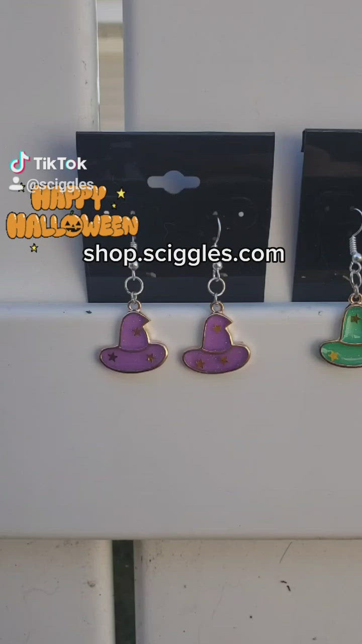 Halloween Enamel Earrings