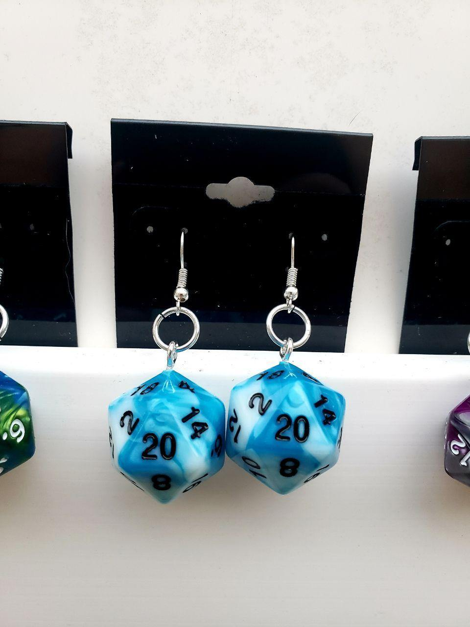 D20 Dice Earrings, Earrings - Sciggles