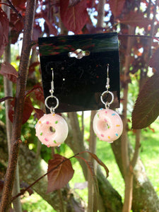 Donut Earrings, Earrings, Earrings, Resin, Wearable - Sciggles