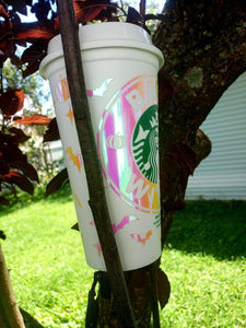 Flower Hot Cup, Cups, Cups, Customizeable, Starbucks - Sciggles