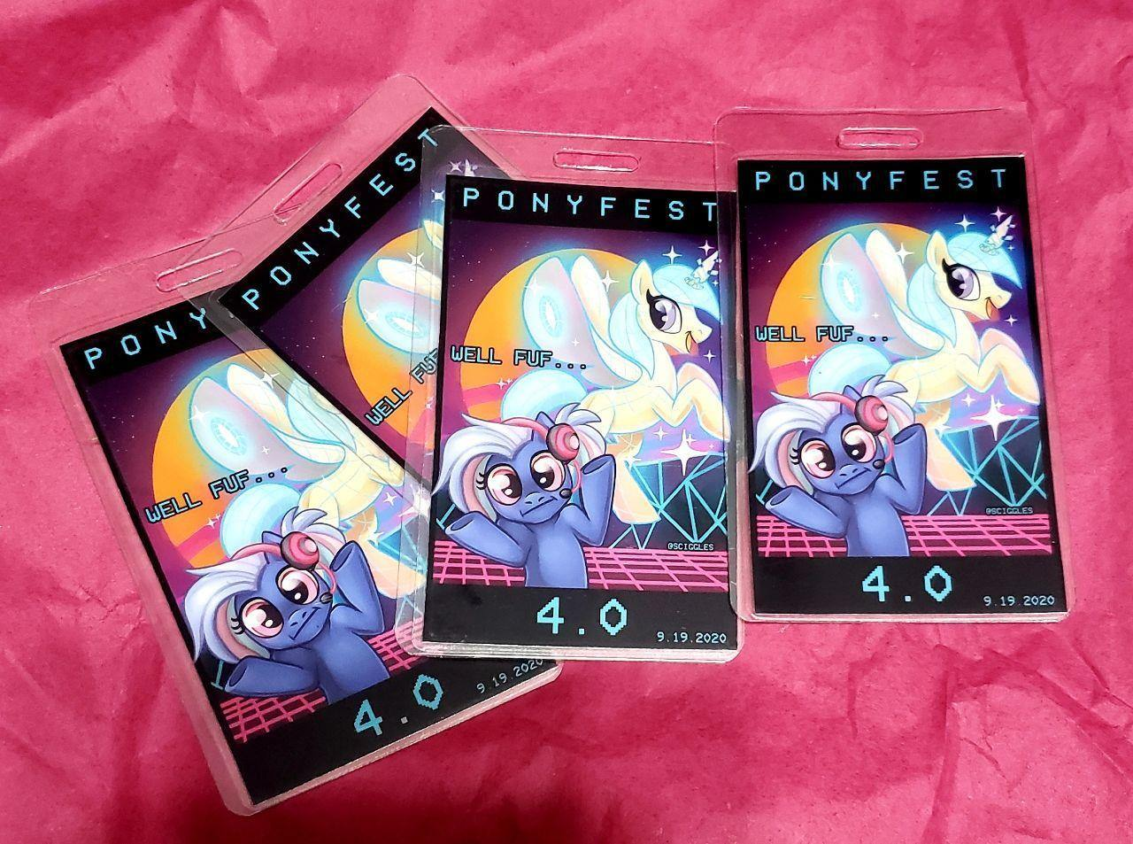 Pony Badges - PonyFest Online, Badges, Badges, Convention Exclusive, Limited Edition, Pony - Sciggles