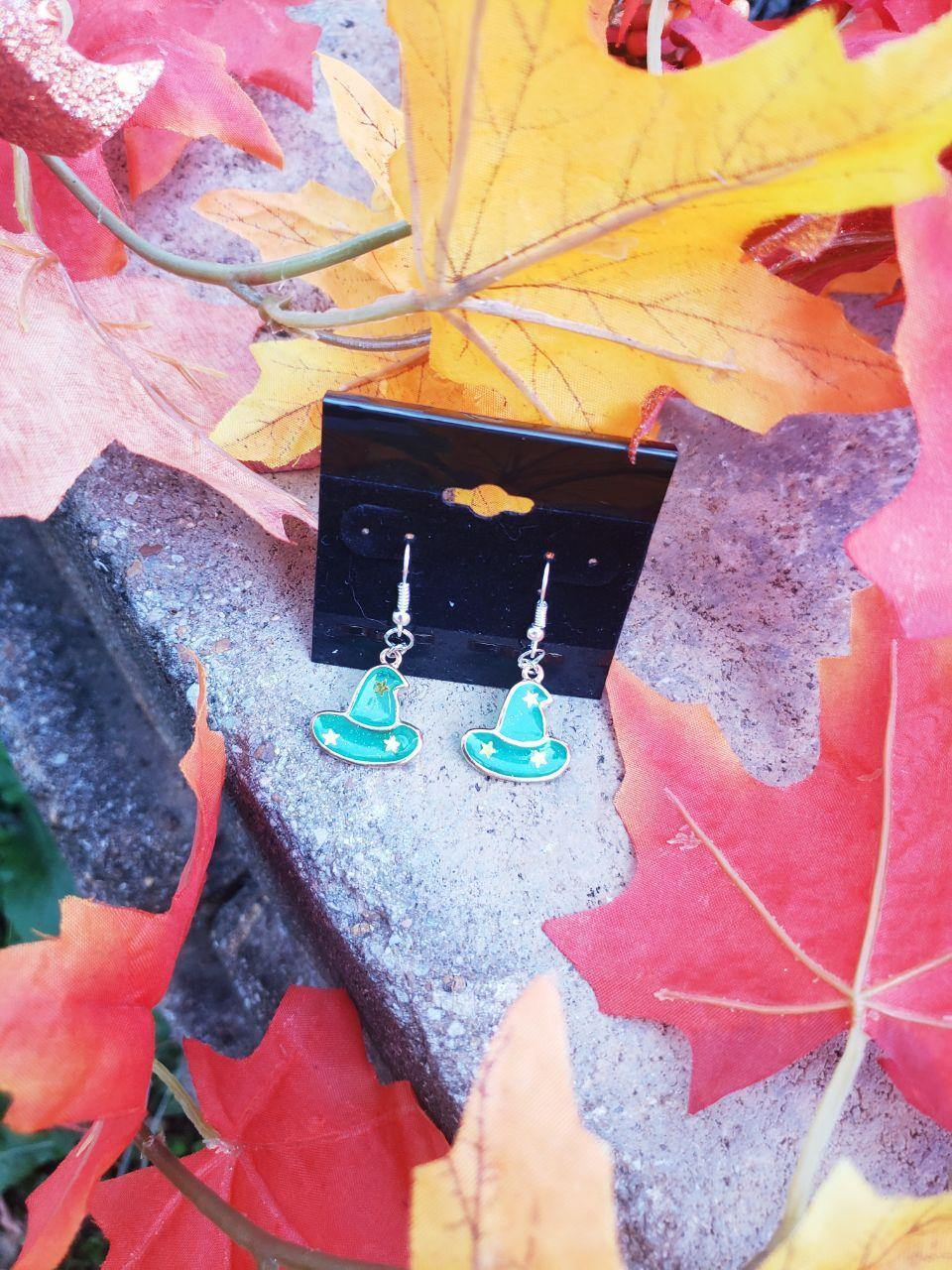 Halloween Enamel Earrings, Earrings, Earrings, Enamel, Halloween/Fall, Limited Edition, Wearable - Sciggles